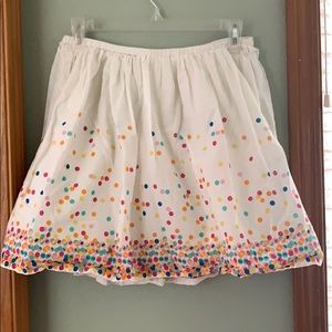Lands end skirt sz 14 confetti dots lined